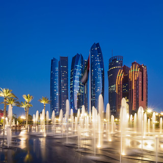 Abu Dhabi Blue Hour - Etihad Towers