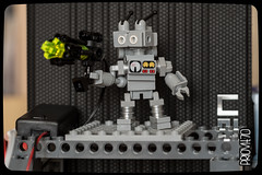 Hasta la vista Blacktron - setup (Priovit70) Tags: lego mrrobot gun classicspace behindthescene lifelites olympuspenepl7