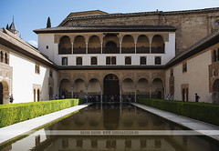 La Alhambra - Granada, Spain (Naomi Rahim (thanks for 3 million visits)) Tags: granada spain españa andalusia europe europa 2016 travelphotography travel nikon nikond7200 wanderlust architecture moorish moors arabian palace alhambra reflection pool water unesco hedge garden
