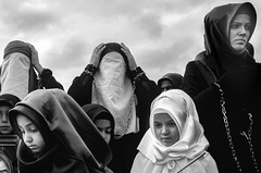 Ashura Mourning, sad people at the event (YUnlutas) Tags: istanbul arenamegto ashourfaith ashura ashuramourning caferi caferiassociationcaferisociety ceremonies cultural culture festivals annelid hossein huseyn hussain imamhuseyin imams karbala karbalaashura mohammad mohammed moharram muhammet muharam muharrem muslem prophets religion ritual spiritual turkey traditionalmuslimwomen walking crying femalecrowds womensculture worship yahyakemalbeyatldemonstrationcenter zeynebiye zeynebiyeasura zeynep photos asure halkali islam muslim faith turban turbanwearingwoman burka burqa linenclothing yunlutas yasarunlutas