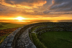 Grainan of Aileach Ancient Ring Fort of Inishowen (Gareth Wray - 9 Million Views - Thank You) Tags: grianan aileach lough swilly foyle ancient irish kings hill lookout fort ring ringed burt county donegal ireland summer landmark stone brick monument tourist tourists site famous visit scenic countryside druid celtic gareth wray photography strabane hdfox hd fox inishowen derry londonderry an angrainan blue sun inch island historic heather d810 1424mm nikon national gaelic photographer garethwrayphotography vacation holiday europe fahan buncrana people kingdom outdoor architecture landscape