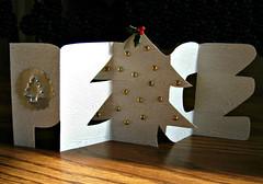 Papercut Peace Christmas Card (all things paper) Tags: papercraft papercutting christmasdecor holidaydecor handmadecard christmascard paper folding woodgrainpaper paperfolding helenhiebertdesign