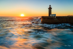The Felgueiras Lighthouse (Tekila63) Tags: porto felgueiras lighthouse sunset douro portugal phare wow fozdodouro faro