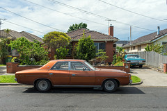 Yarraville (Westographer) Tags: yarraville melbourne australia westernsuburbs suburbia parked streetscape chrysler valiantregal pair