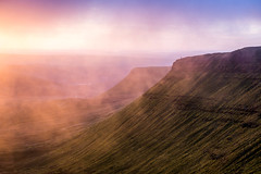 Colourful Dawn (snazbaz) Tags: wales mountain colourful dawn sunrise purple layers mist cloud pen y fan brecon