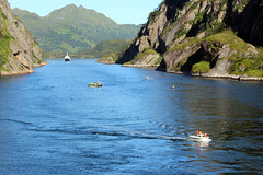 Looking Back in the Trollfjord, Norway (4) (Phil Masters) Tags: 21stjuly july2016 norwayholiday norway raftsund raftsundet thetrollfjord trollfjorden trollfjord shipsandboats