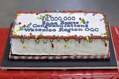 Celebrating 6 Million Shoeboxes! (thepoocher7) Tags: indoor cake celebration joy love caring sharing volunteers operationchristmaschild occ kitchener waterlooregion ontario canada