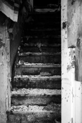 Going up. (kay_nutt) Tags: abandoned house stairs charred fire broken