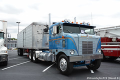 Kenworth Bullnose Tractor (Trucks, Buses, & Trains by granitefan713) Tags: truck bigtruck bigrig showtruck cabover coe antiquetruck vintagetruck classictruck kenworth kenworthtruck tandem tandemtractor sleepertractor bullnose kwbullnose kenworthbullnose tractortrailer