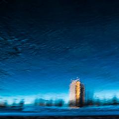 INTEMPERIES (zventure,) Tags: bordsduvar buissons bleu reflets reflet reflexion eau eaudouce fleuve fleuvecotier flou file arbres