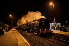 The Duchess at Collingham (FlyingScotsman4472) Tags: lms princess coronation 46233 duchess sutherland 1st december 2016 collingham station cathedrals express steam