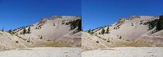 Lassen Volcano, 3D, cross-eyed viewing format (Edward Mitchell) Tags: lassen volcano volcanic nationalpark geology geological stereoscopic 3d crosseyed vr vr3d