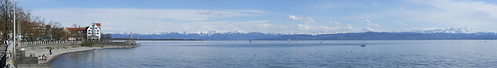 Panorama of Lake Constance, 21.04.2012.