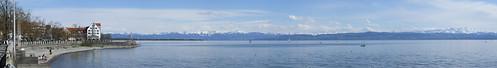Panorama of Lake Constance, 21.04.2012.