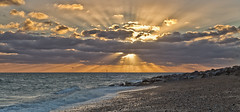 It`s a breakout (Through Bri`s Lens) Tags: sussex lancing worthing rocks pebble shingle clouds cloudy sunset brianspicer canon5dmk3 lee09softgrad