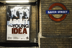 The Young Idea (stevedexteruk) Tags: street uk house brick london station wall underground idea baker transport tube young somerset exhibition billboard about jam the 2015