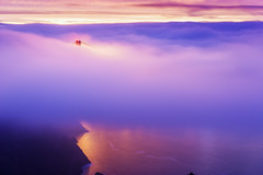 Sunrise over San Francisco. (I think it is there somewhere.) (brianbaril_photography) Tags: ocean sf california morning bridge water weather fog sunrise landscape photography golden bay gate san francisco cityscape shore d800 brianbaril