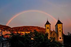 You Are a Rainbow of Possibilities (www.francescaalviani.com) Tags: love church norway rainbow maria norwegen chiesa gift bergen regalo huset norvegia possibilities utsikten sandviken mariakirken ourlivingroom theviewfromhome 2monthsfromourweddingday