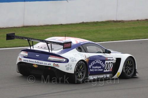The Beechdean-AMR Aston Martin V12 Vantage GT3 of Jonathan Adam and Andrew Howard in GT Racing at Donington Park, September 2015