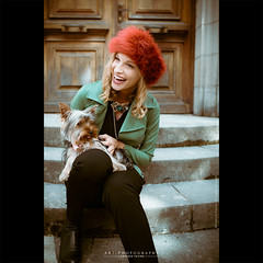 Red hairs (dominikfoto) Tags: autumn dog chien france mannequin smile fashion automne model yorkshire beaujolais sourire rire modele rhone coraline poils fusina fusinadominik missbeaujolais