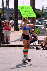Show me your foreskin ladies, you have one too. (kennethkonica) Tags: world gay people usa hat festival america lesbian nikon midwest day sitting random outdoor candid indianapolis seat cellphone indy indiana sunny glbt parade sit persons seated samesex indypride nikond7100