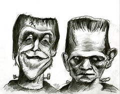 Herman Munster and Boris Karloff's Frankenstein (Caricature80) Tags: monster movie frankenstein herman boris munster karloff