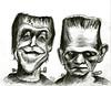 Herman Munster and Boris Karloff's Frankenstein (Caricature80) Tags: monster movie frankenstein herman boris munster karloff