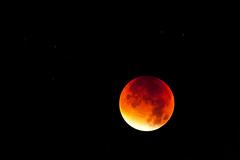 Lunar Eclipse 4 (Macke827) Tags: red moon rot night dark mond eclipse shine nacht glowing sonne lunar dunkel lunareclipse sterne mondfinsternis halbe 2015 totale finsternis glhen blutmond