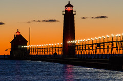 Grand Haven Sunset (malderink) Tags: sunset lake haven pier michigan grand