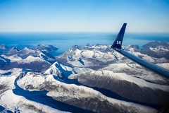 Kvalya (Ggranvik) Tags: snow mountains coast fly aircraft aviation wing aerial sas airliner fjell troms scandinavianairlines luftfoto luftfart kystlandskap