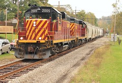 AVR-3, Ventia, Pa (W&LE45) Tags: railroad autumn train trains bo express pike wp railroads avr washingtonpa carload finleyville eightyfour gp11 alleghenyvalleyrailroad carloadexpress