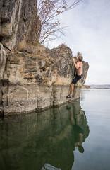 Steve Boulder Traverse (kinkbmxco) Tags: climbing bankslake deepwatersoloing
