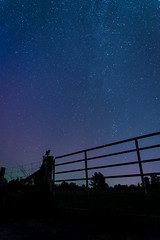 Gate to Heaven (trudeauphotog) Tags: autumn shadow sky ontario canada black fall night way skyscape stars landscape lights long exposure skies nightscape aurora northern milky peterborough astrology borealis astophotography