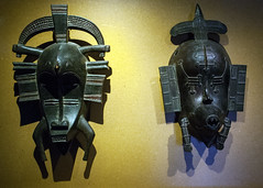 Marseille Holiday Day 07 51 Vielle Charitie African masks (bob watt) Tags: holiday france art canon marseille september 24mm africanmasks 2015 400d canoneos400d viellecharite marseilleholiday2015