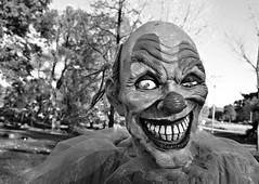 Clowning Around (drei88) Tags: halloween scary clown fear evil creepy grinning nightmare scare fright primal garish