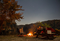 Fella hanging by the fire (tshabazzphotography) Tags: dog moon fall misty fog mystery season stars fire dock pod woods heaven fallcolors curves canoe campfire dslr banks speedway pisgah frenchbroadriver dupontforest scurve triplefalls traildog canonphotography t5i myseason mtbdog cascadelakecampgrounds