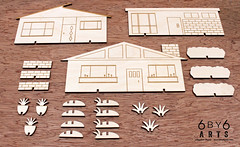 6by6Arts_PopUpVillage1 (thea superstarr) Tags: wood houses holiday modern century village handmade birch kit popup maker pnw mid midcenturymodern madeinusa mcm lasercut laserengraved 6by6arts