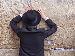 Just us (veras_city) Tags: man religious israel jerusalem praying jewish oldcity blackhat chasid westernwall wailingwall