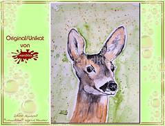 Rehshop (wandklex Ingrid Heuser freischaffende Künstlerin) Tags: ingrid watercolor foto etsy comission malerei heuser dawanda auftragsmalerei wandklex