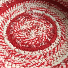 "Let's start our day in the studio with a bit of cranberry and sage.   #1840farm #fabric #egg #basket #handmade #repurposed #etsyshop • <a style=""font-size:0.8em;"" href=""http://www.flickr.com/photos/54958436@N05/23772299625/"" target=""_blank"">View on Flickr</a>"