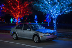Merry Christmas from Gretta the Jetta and Myself! (Brian Just Got Back From...) Tags: christmas volkswagen lights jetta grettathejetta vitruvianpark vitruvianlights vitruvianparkchristmaslights