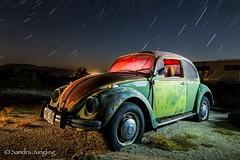 VW Bug (Aztravelgrl (Forgotten Places Photography)) Tags: california longexposure nightphotography usa lightpainting us unitedstates abandon junkyard vwbug