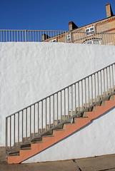 Walton-On-The-Naze Fences - HFF! (RiverCrouchWalker) Tags: houses sky lines coast steps angles fences essex waltononthenaze fencefriday happyfencefriday