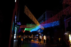 Luces Fuencarral (TrustyOldGear) Tags: madrid luces noche colores fuencarral