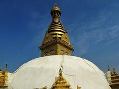 Swayambhunath scars (Equi.Libre) Tags: nepal temple monkey earthquake unesco kathmandu scars swayambhunath boudhism