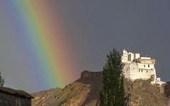Indian rainbow (Fil.ippo) Tags: namgyal tsemo monastery d5000 leh india ladakh jamm jammuandkashmir rainbow rain arcobaleno monastero gompa filippo filippobianchi