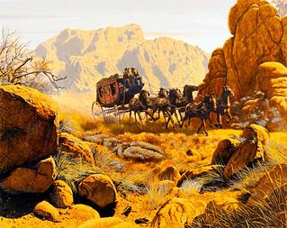 Stagecoach by Mort Künstler