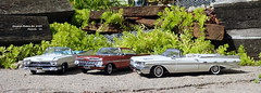 General Motors for 1959 (JCarnutz) Tags: 124scale diecast danburymint 1959 cadillac series62 chevrolet impala pontiac bonneville