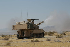Paladin Fires (pao3abct) Tags: 3rdarmoredbrigadecombatteam 3abct 4thinfantrydivision 4id 410cav 166armorregiment 168armor abrams tank bradley ntc national training center fortirwin nationaltrainingcenter army fortcarson