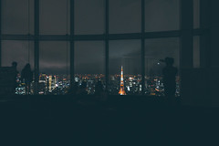 Trip to Tokyo (]vincent[) Tags: japan tokyo trip vincent self portrait people night tower lights spider sony rx 100 mk iv